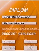 گواهینامه آموزش نصب و توزیع کنندگی