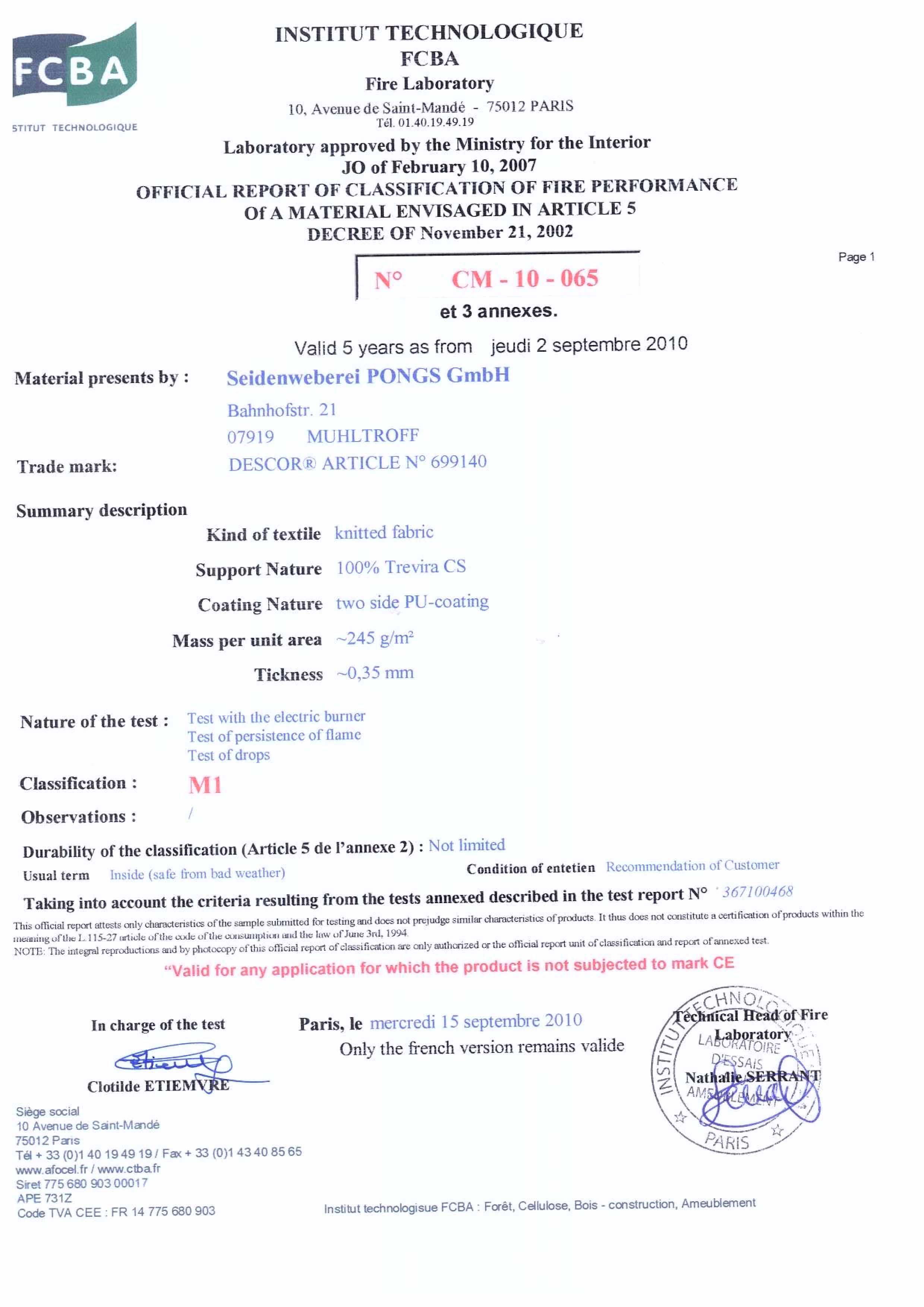 گواهینامه M1